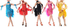 Fringe Stage Performance Competition Ballroom Dance Costume Latin Dance Dress