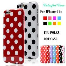 For Apple iPhone 6 6S Case Polka Dot Soft TPU Skin Back Cover