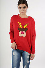 Applique Christmas Jumper in Red
