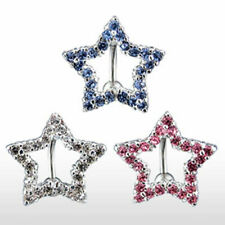 "Piercing de ombligo ""Estrella Linea"" 3 Colores o Set NEW PIERCINGS de ALLFORYOU"