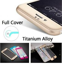 3D Arc Metal Titanium Alloy Premium Tempered Glass Guard IPHONE 6 Front Back