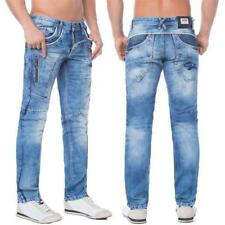 Cipo & Baxx C 1150 Herren Jeans Hose Denim Straight Cut blue blau Zipper Regular