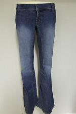 """Juicy Couture womens bootcut faded denim jeans pants stone wash RRP £80 30""""&31"""""""