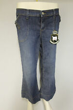 Juicy Couture womens capri cropped denim jeans pants stonewashed RRP £60 32""