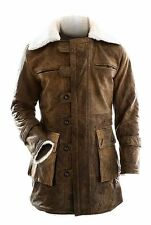 Bane Real Cowhide Batman Dark Knight Rises Distressed Brown Tom Hardy Coat