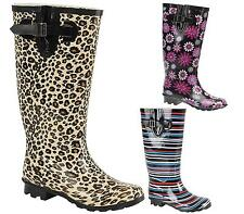 LADIES KNEE HIGH RAIN SNOW WELLINGTON WELLIES WIDE FIT WINTER WELLY BOOTS SHOES