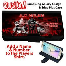 Personalised AC MILAN Samsung Galaxy S ALL MODELS Flip Phone Case Girl Gift