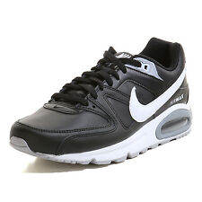 NIKE Scarpa Uomo AIR MAX COMMAND LEATHER 749760/010 Colore Nero Pelle