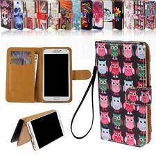 Magnetic Flip Wallet Card Stand Leather Case Cover For Various HTC SmartPhones