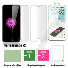 Lot/2 vitre protection Verre trempé film de protecteur ecran iPhone 4/5/6/S/plus