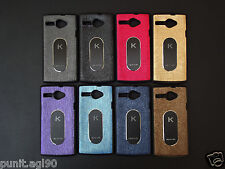 Dual Tone Soft Rubber Back Cover Case Metal Plate For Karbonn  High 2 S203