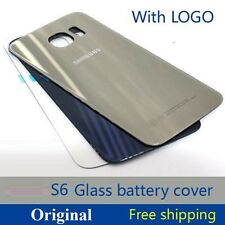 Original Back Battery Housing Rear Back Door Glass Panel For Samsung Galaxy S6