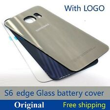 Original Back Battery Housing Rear Back Door Glass Panel Samsung Galaxy S6 Edge