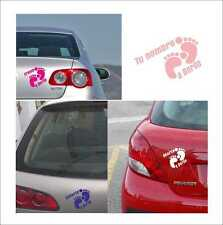 Vinilo adhesivo, pegatina, sticker, decal vinyl PIES BEBE A BORDO PERSONALIZABLE