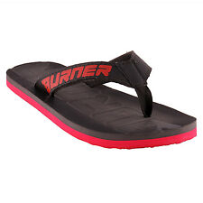 Burner Plastic Moulded or Hawaii Chappals In Black/Red Colour (BES-210-Black)