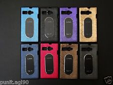 Dual Tone Soft Rubber Back Cover Case Metal Plate For Lava Flair P1