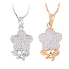 Jewelry chain bling bling fit 18k gold filled chic unique white sapphire pendant