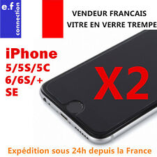 Lot/2 vitre protection en verre trempé film protecteur écran iPhone 4/5/6/S/plus