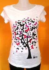 VIRTY T-shirt donna colore bianco con stampa colorata Tg XS-S-L