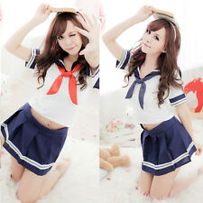 Women Sexy Cosplay Japanese School Girl Students Sailor Uniform Anime Costume