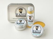 Be King's kit Olio da barba + Beard Balm Balsamo Barba + Cera Wax per Baffi