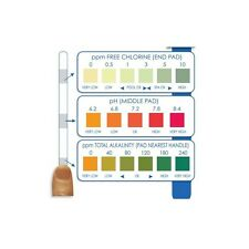 3 Way Chlorine Test Strips Hot Tub Spa PH TA & Chlorine