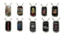 < IRON MAIDEN - OFFICIAL METAL DOGTAG chain pendant killers final frontier