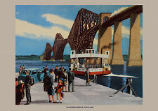 THE FORTH BRIDGE SCOTLAND VINTAGE RETRO TRAVEL METAL TIN SIGN POSTER WALL PLAQUE