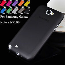 Ultra Thin TPU Semi-Hard Transparent Back Cover Case For Samsung Note 2 N7100