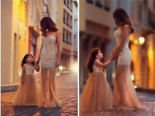 Sparkle Crystal Prom Gowns Wedding Party Pageant Formal Tulle Evening Dresses