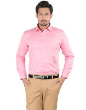 Oxemberg Full Sleeves Plain PC Slim Fit Coral Shirt