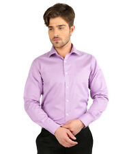 JHAMPSTEAD Full Sleeves Plain 100%  Cotton Slim Fit Purple Shirt