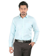 Oxemberg Full Sleeves Plain PC Slim Fit Aqua Shirt