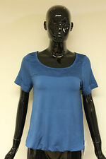 Morgan De Toi womens sea blue short sleeve t-shirt elasticated waist top XS & M