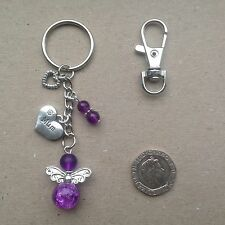 GIFT FOR MUM, Guardian Angel Mum Bag Charm Keyring, Birthday, Mother's Day.