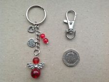 VALENTINES DAY GIFT, Guardian Angel 'I LOVE YOU' Bag Charm Keyring, Birthday
