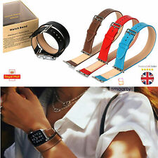 Long Double Tour Band Leather Strap for iWatch Apple Watch 38/42mm