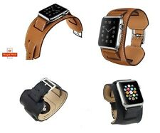 Leather Cuff Bracelet Strap Band for Apple Watch iWatch 38/42mm UK