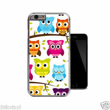 Owls Fun Funky Bright Colourful Cute Owl Case For iPhone 4 4s 5 5s 5c 6