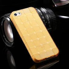 New Silicone Cube Square Pattern TPU Gel Cover Case Clear for Apple iPhone 5/5s