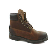 Mens Timberland 6 inch Premium Distressed Brown Boots