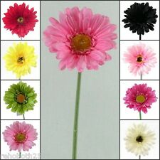 Artificial LARGE Silk Gerbera Flower Heads - Quality New Daisy Colourful Flowers