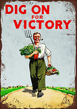 Vintage style Dig on for Victory decorative metal sign tin wall door plaque gift