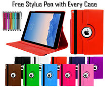 New 360 Rotating PU Leather Folio Smart Stand Case For Various Apple iPad Models