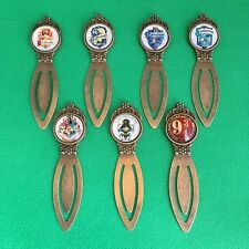 Harry Potter - Metal Cabochon Bookmark - Hogwarts Gryffindor Gringotts - NEW
