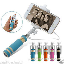 New 2016 Selfie Stick Ultra Small Mini Pocket Size Wired Phone Holder Mount