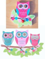 OWL ON A BRANCH TRIPLE HOOK CHILDRENS BEDROOM  WALL HANGER PLAYROOM