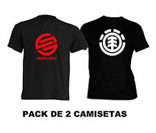PACK camiseta tshirt ELEMENT SKATE SANTA CRUZ STREET URBAN TALLAS S M L XL XXL