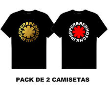 PACK camiseta tshirt RED HOT CHILI PEPPERS ORO GOLD MUSIC  TALLAS S M L XL XXL