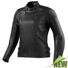 REV'IT! BELLECOUR LADIES Mujer Chaqueta De Cuero Motocicleta City negro Revit